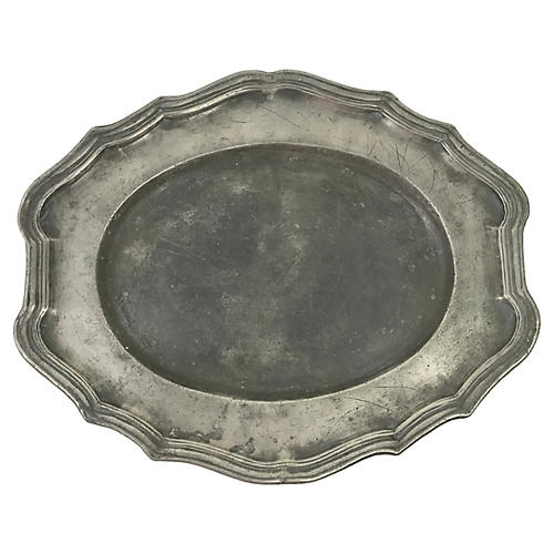 French Pewter Platter