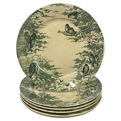French Transferware Plates, S/6