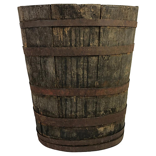 French Grape Harvesting Oval Barrel