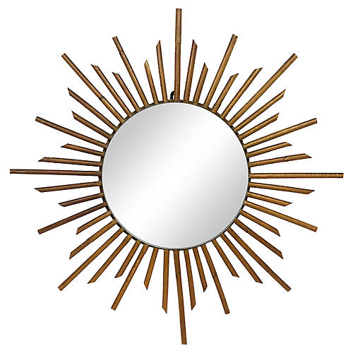French Bamboo Starburst Mirror