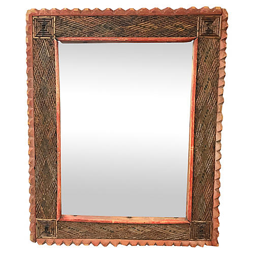 French Tramp Art Frame