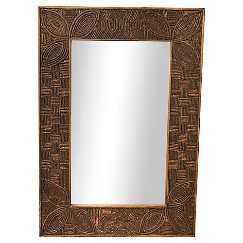 French Tramp Art Mirror