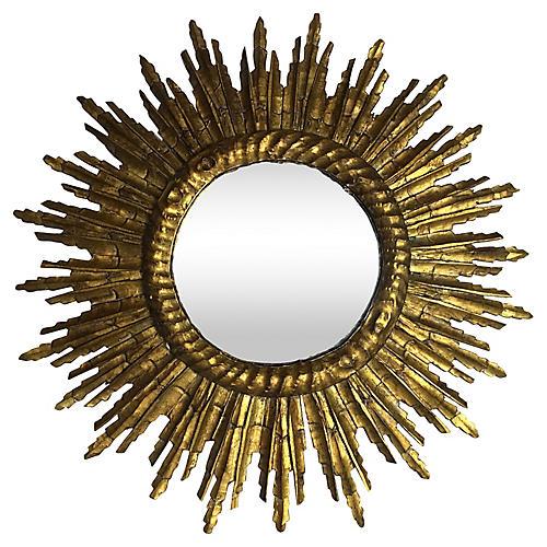 French Gilt Starburst Mirror