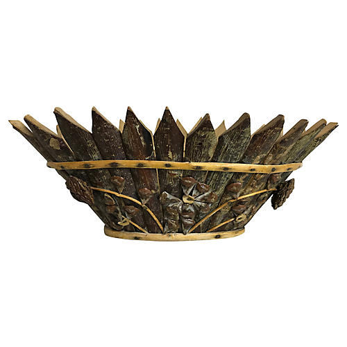 French Pinecone Jardiniere