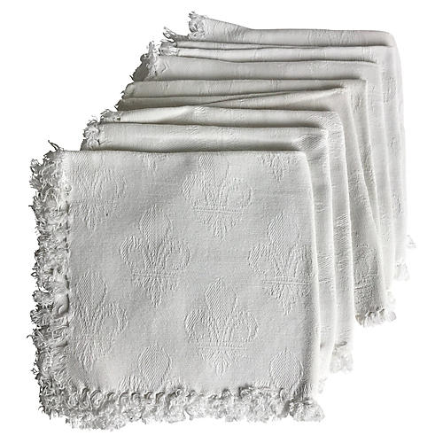 French Damask Napkins, S/8