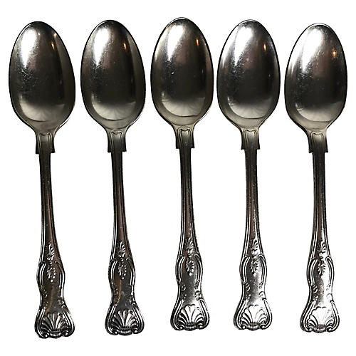 English Silverplate Spoons, S/5