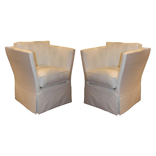 Pair of Continental Deco Chairs