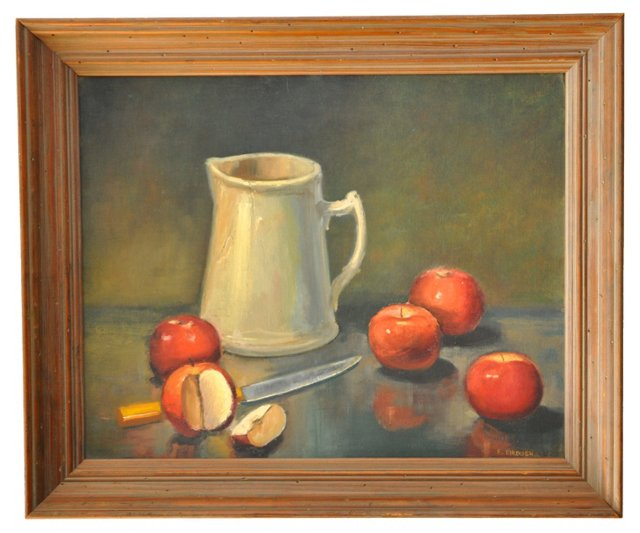 Still Life w/ Apples by Evelyn Eirdosh