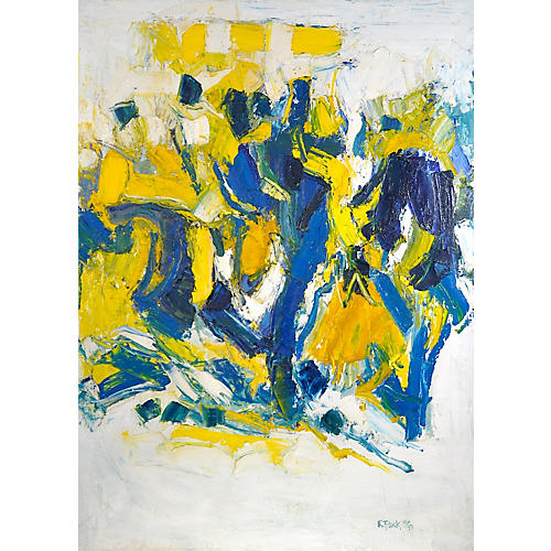 Bold Abstract Expressionist Oil