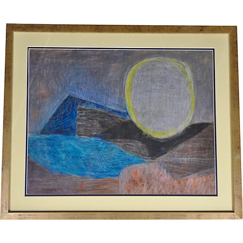 Moonrise Landscape by Anne Helioff