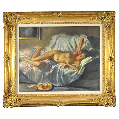 Classical Lounging Nude