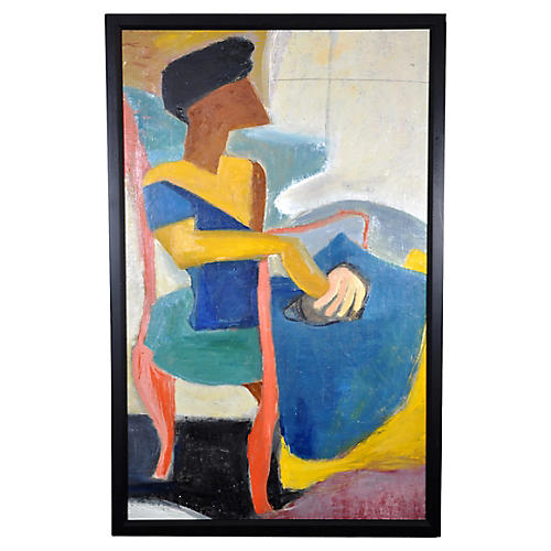 Cubist Woman in Armchair