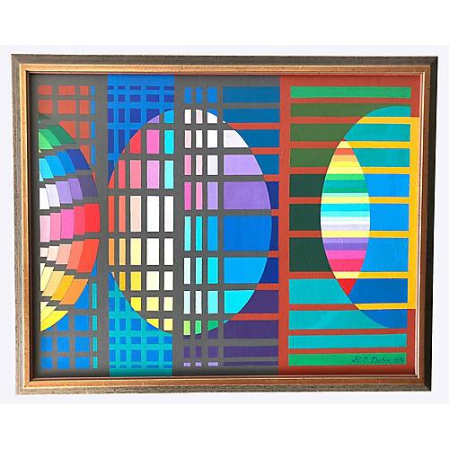 Grid & Ovals by Howard Dubin