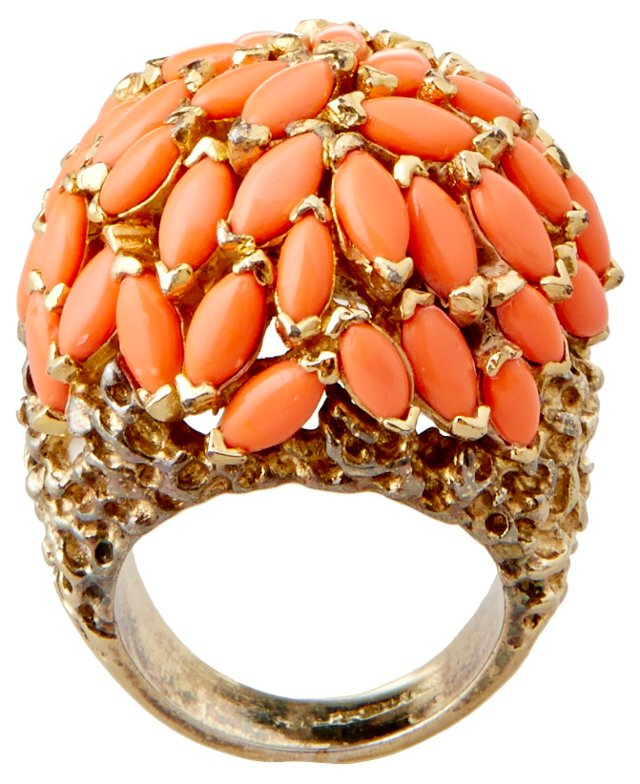 Panetta Faux-Coral Ring