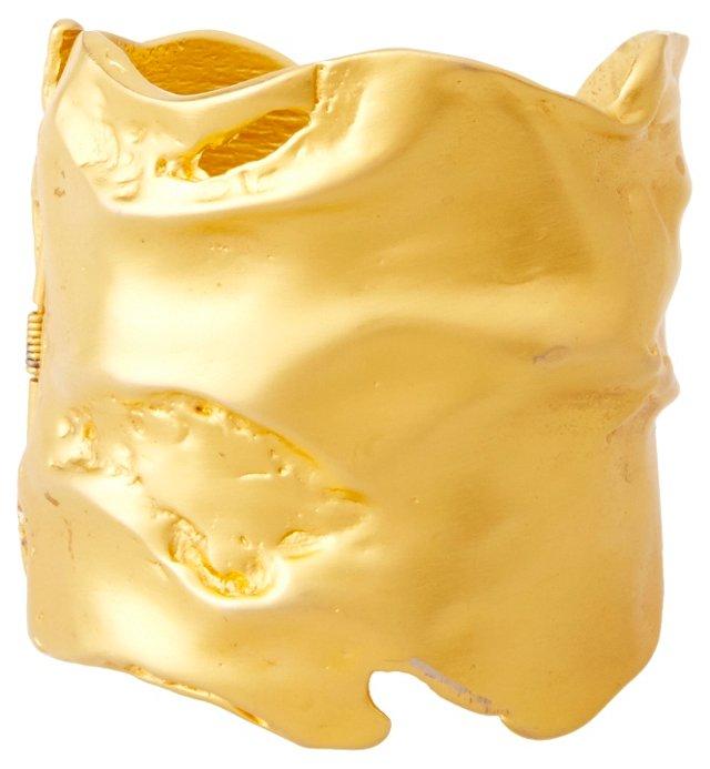 KJL Brushed Goldtone Cuff