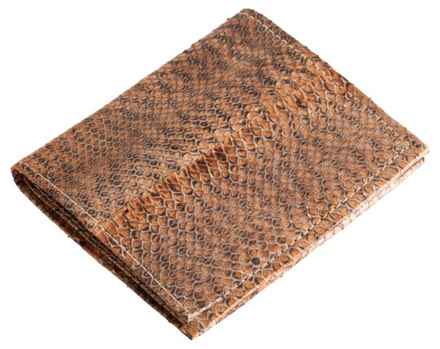 Snakeskin Clutch Wallet