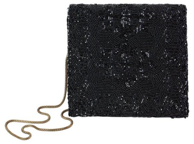 Art Deco Black Beaded Bag