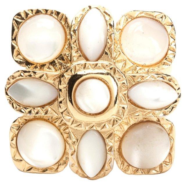 Swarovski Mother-of-Pearl Ring
