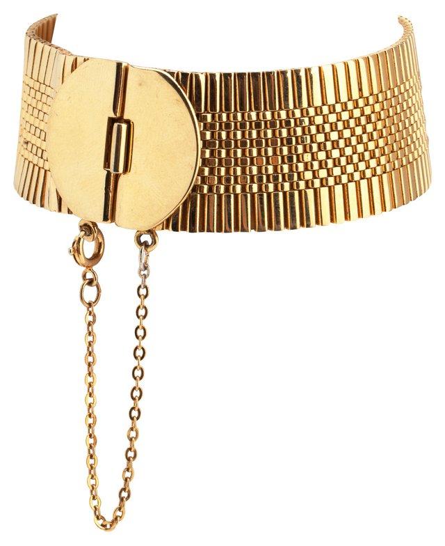 Napier Goldtone Bracelet w/ Safety Chain