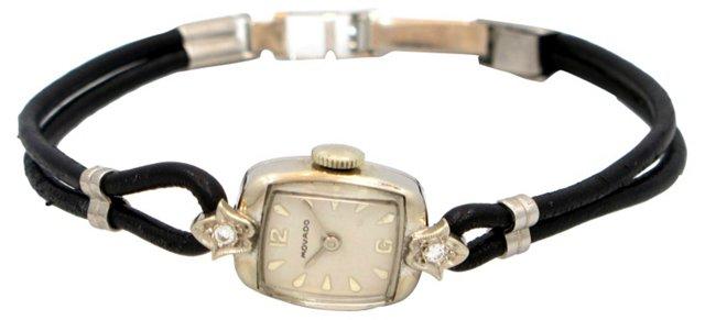 1960s Movado 14K White Gold Watch