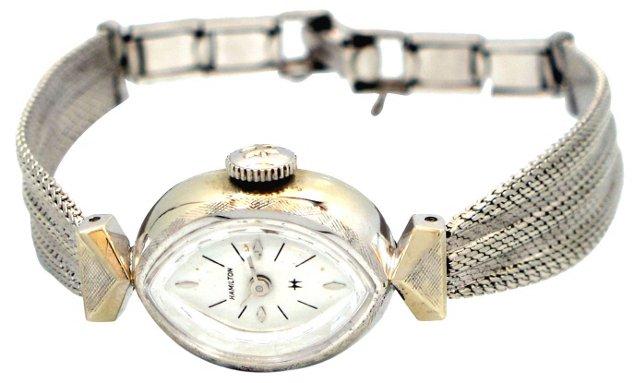 1960s Hamilton 14K White Gold Watch