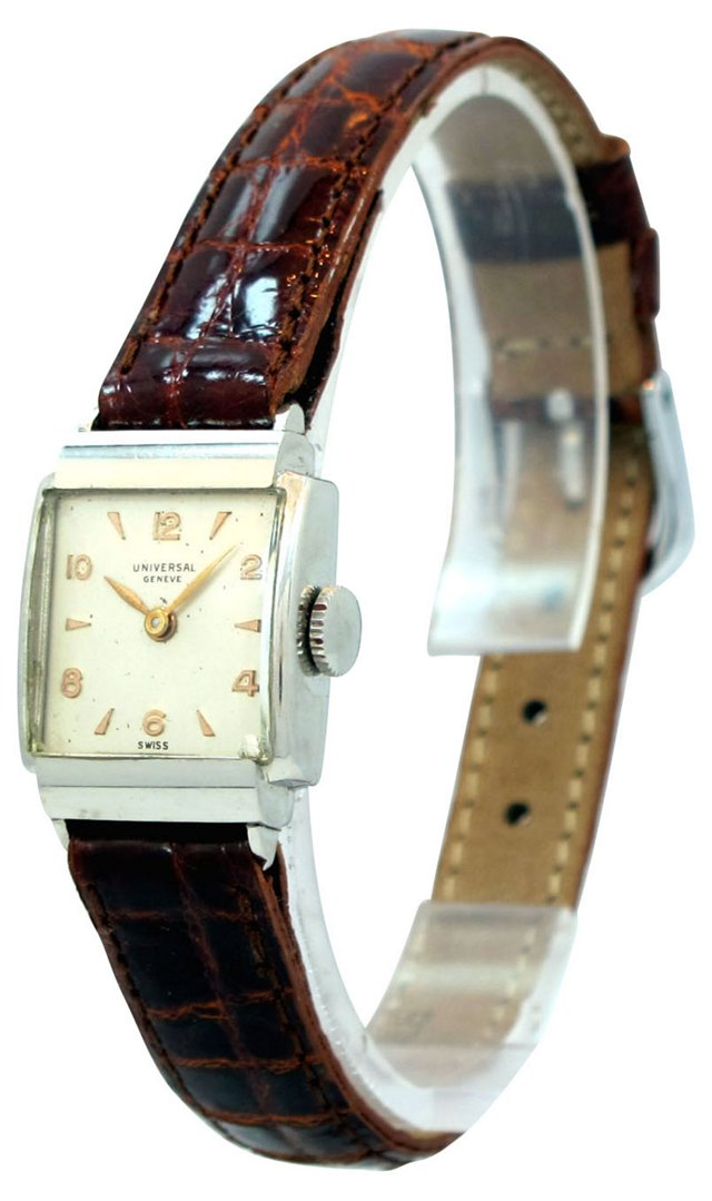 1950s Universal Geneve Steel Watch