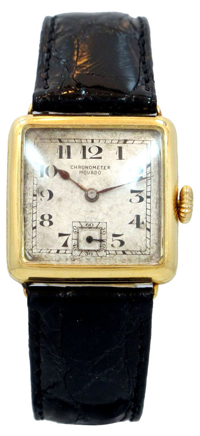 1920s Movado 18K Yellow Gold Watch