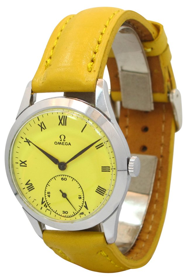 Omega Custom Yellow Dial, 1949