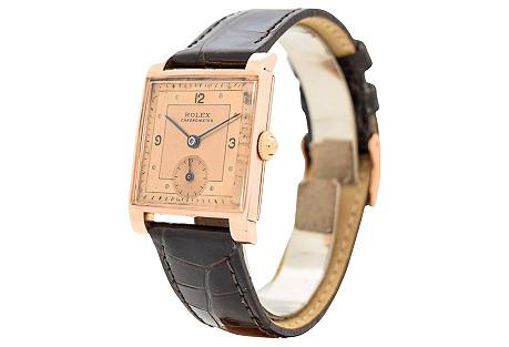 Rolex Square 14k Rose Gold watch, 1940