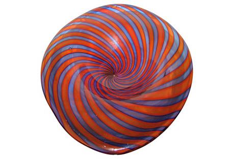 Venini Murano Swirled Glass Dish