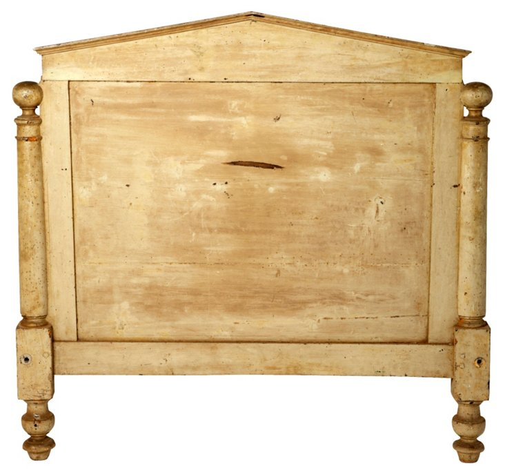19th-C. Headboard, French Full