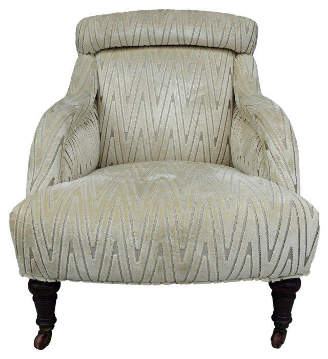 British Colonial Petite Slipper Chair