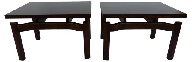 Midcentury Side Tables, Pair