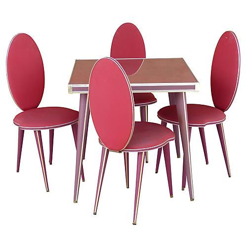 Umberto Mascagni Card Table Set, 5 Pcs.