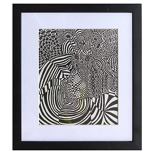Optic Art Pen & Ink by Alejandro Stein