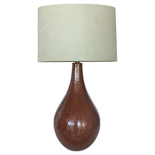 Midcentury Glazed Ceramic Table Lamp