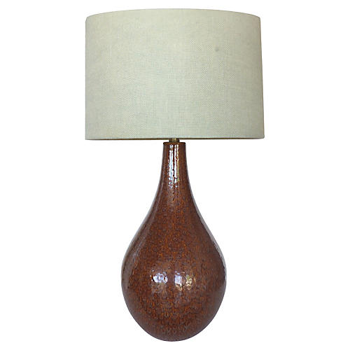 Midcentury Glazed Ceramic Table Lamp