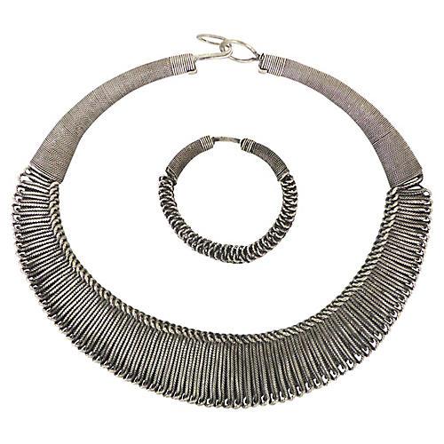 Senegalese Necklace & Bracelet Suite