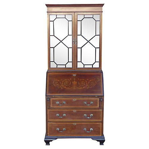 Secretaire Bookcase w/ Inlays