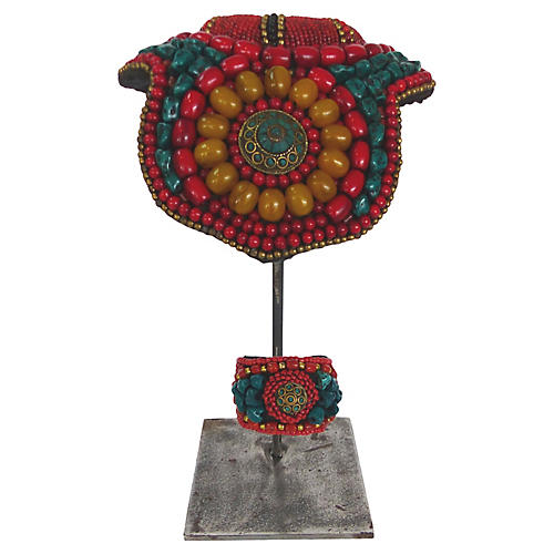 Tibetan Collar & Cuff on Stand