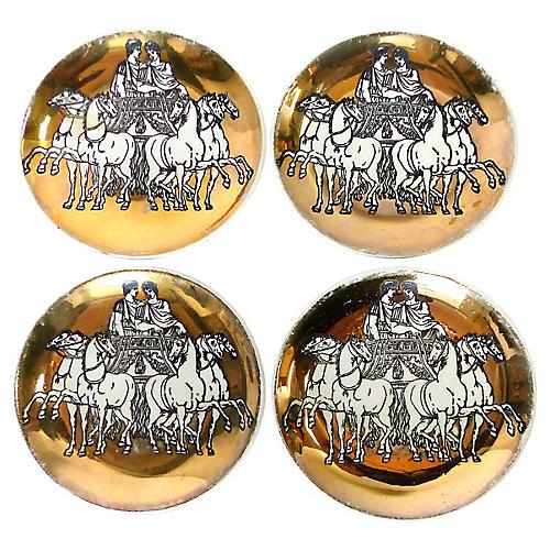 Fornasetti Roman Chariot Coasters, S/4