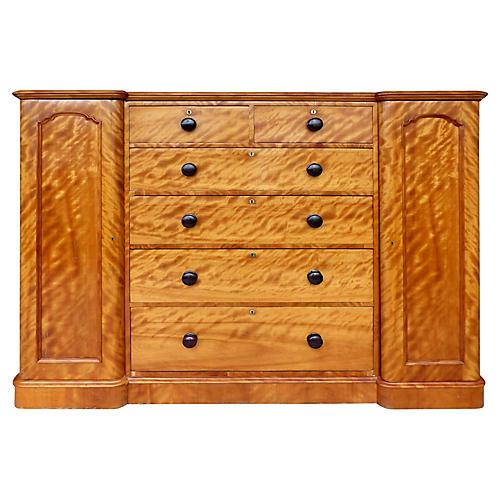 19th-C. Tall Maple Biedermeier Dresser
