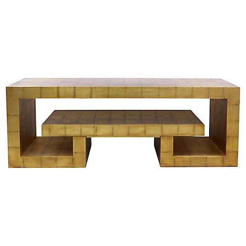 James Mont-Style Gold Leaf Console