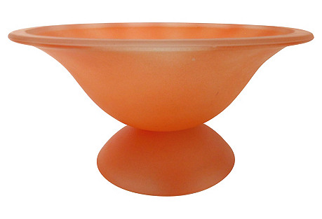 Murano Glass Footed Fruit Bowl
