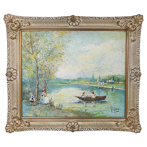 Impressionist Landscape by Viguera