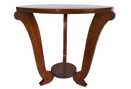 Oak Art Deco Side Table