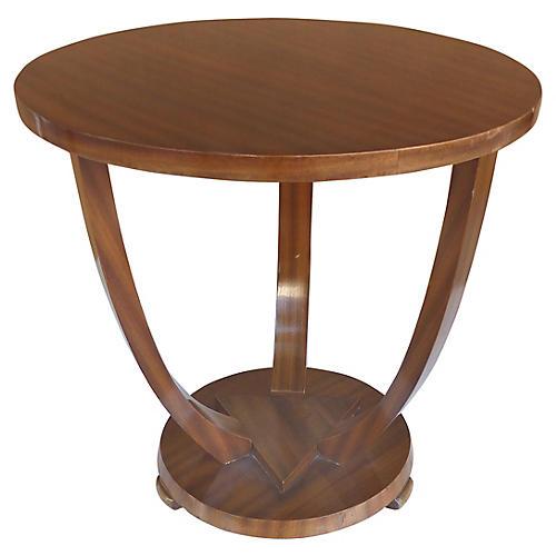 Art Deco Mahogany Side Table