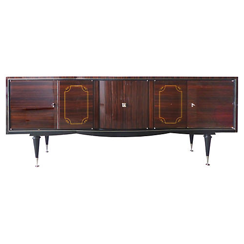 French Deco Sideboard w/ Bar Compartment