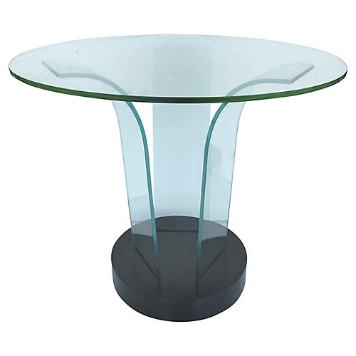 Modernage Bent Glass Side Table