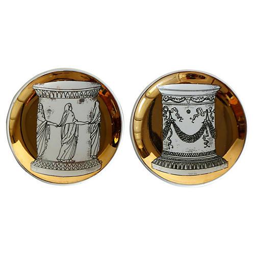 Bucciarelli Milan Porcelain Coasters,S/2